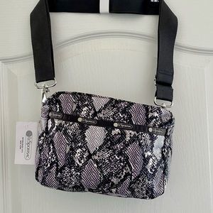NWT Lesportsac Ophidian print crossbody bag